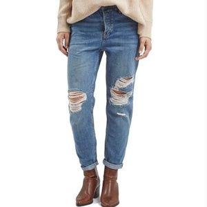 Topshop Hayden Loose Boyfriend Distressed Jeans